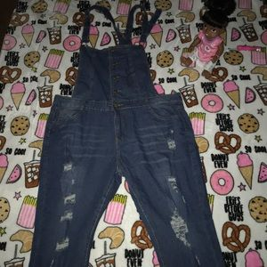 Denim - Women's (NWOT) plus size 2XL ripped Jean Overalls